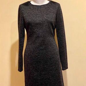 ADRIENNE VITTADINI DRESSES Black White Knit Dress